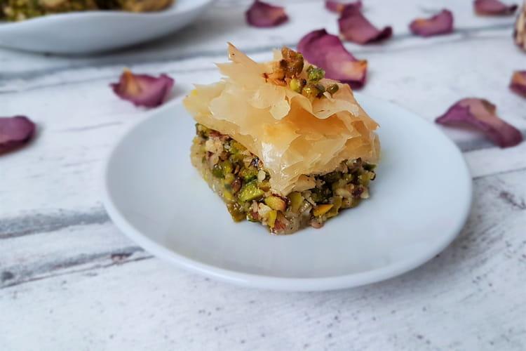 Baklava pistache et noisette