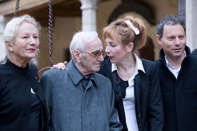 Avec Agnes b, Julie Depardieu et Marc-Olivier Fogiel, à Beaune en 2017