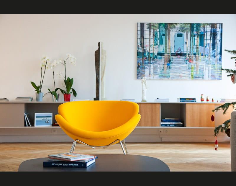 De l'art contemporain dans le salon