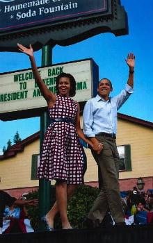 michelle obama en robe asos dans le vogue