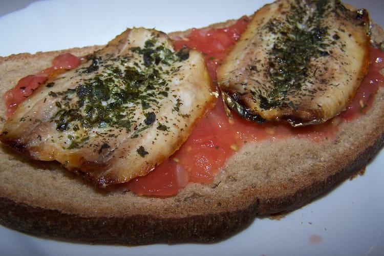Bruschettas de sardine