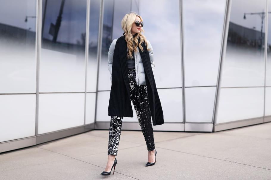 Le look blogueuse de la semaine: l'argent fait le bonheur de Blair Eadie