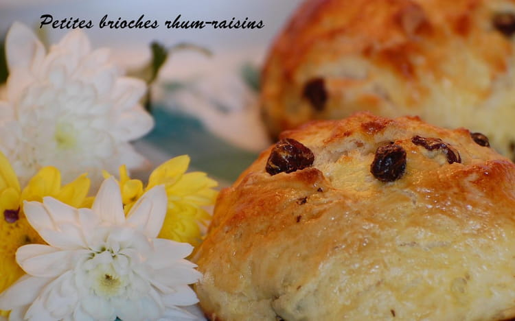 Recette de petites brioches rhum raisins la recette facile for Rhum pour cuisiner