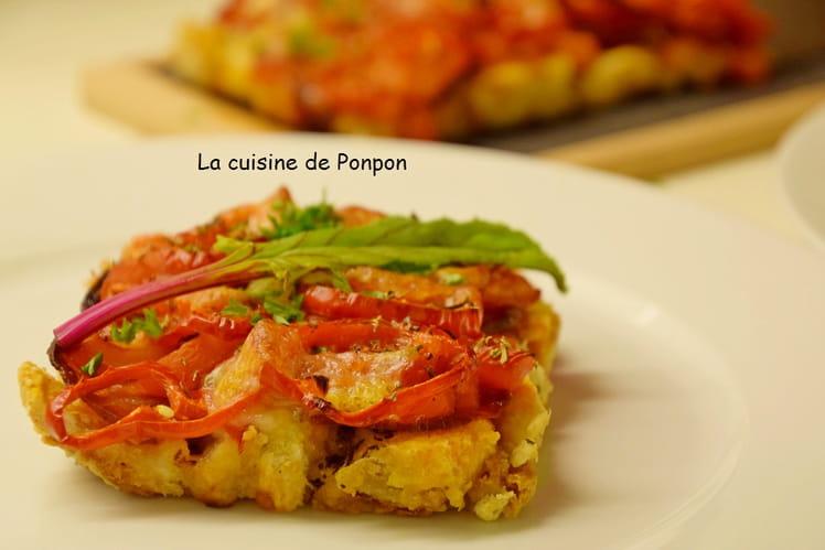Pizza croustillante tomates, poivrons et chorizo anti-gaspi