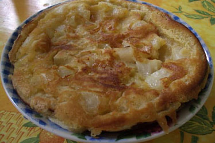 Gâteau aux cerises à la poêle