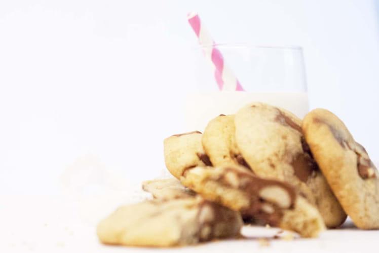 Cookies au kinder et noisettes