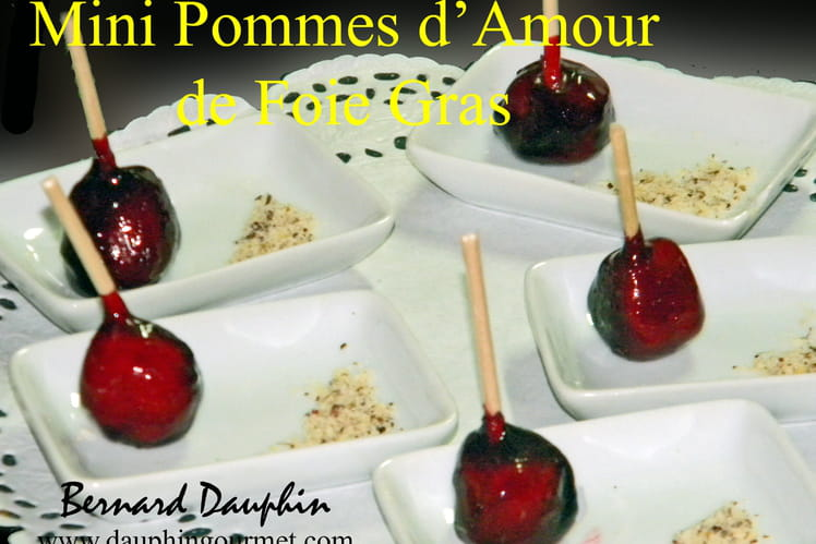 Mini pommes d'amour de foie gras