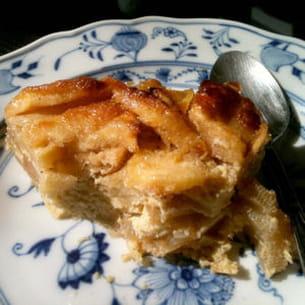 gratin de pommes à la crème d'amandes et fève tonka