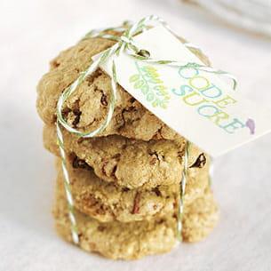cookies aux flocons d'avoine, amandes et raisins secs