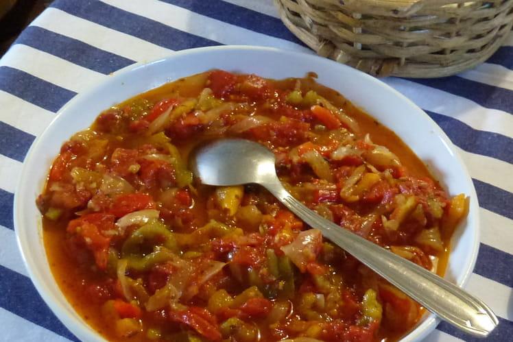 Poivrons et tomates marinés façon Peperonata