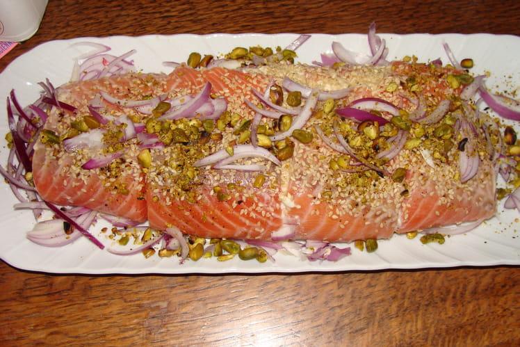 Bûche de saumon à la brousse