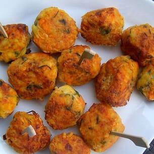 bouchées carottes, pommes de terre et comté