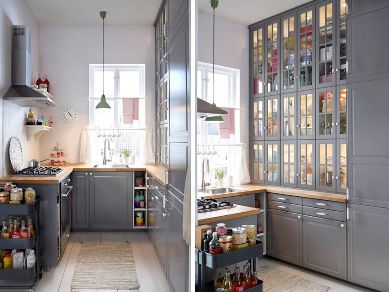une cuisine de style vintage en u. Black Bedroom Furniture Sets. Home Design Ideas