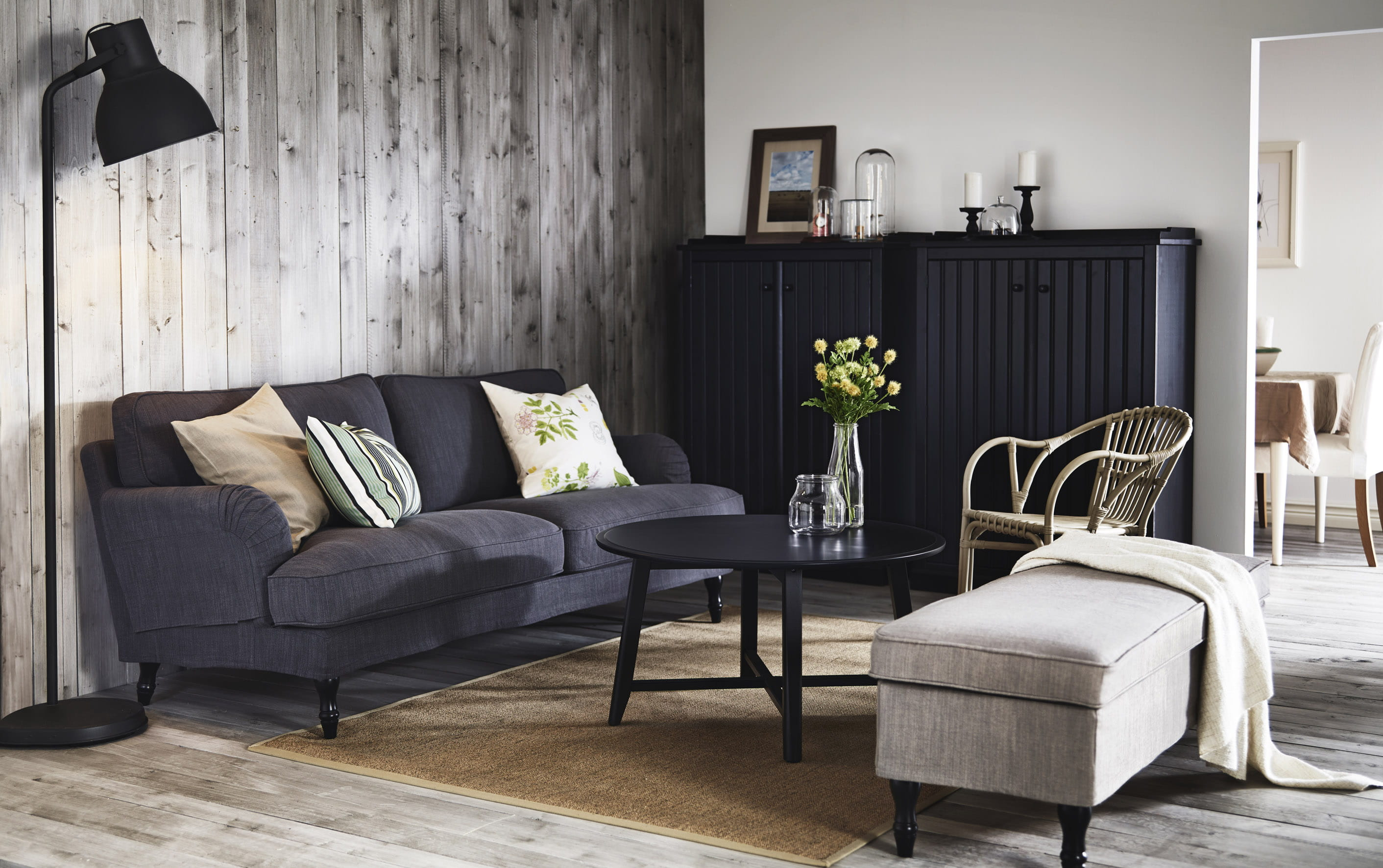 canap 3 places stocksund ikea. Black Bedroom Furniture Sets. Home Design Ideas