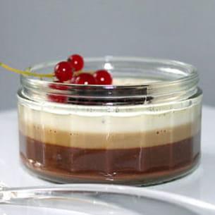 pannacotta vanille, café & chocolat
