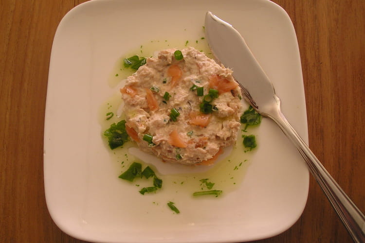 Tartare de saumon à la rucola