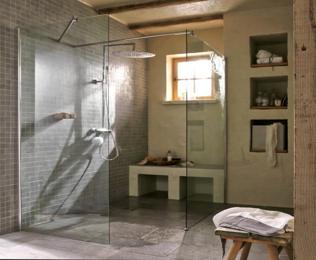 Parois de douche l 39 italienne pour deux par leroy merlin for Prix douche italienne leroy merlin