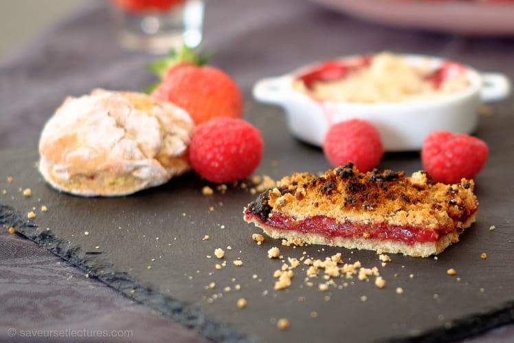 Shortbread à la fraise