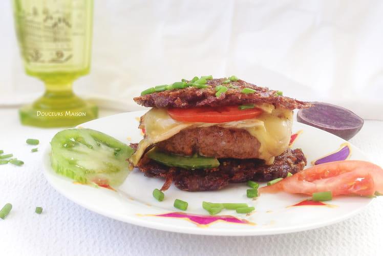 Hamburger paillasson au Saint Nectaire
