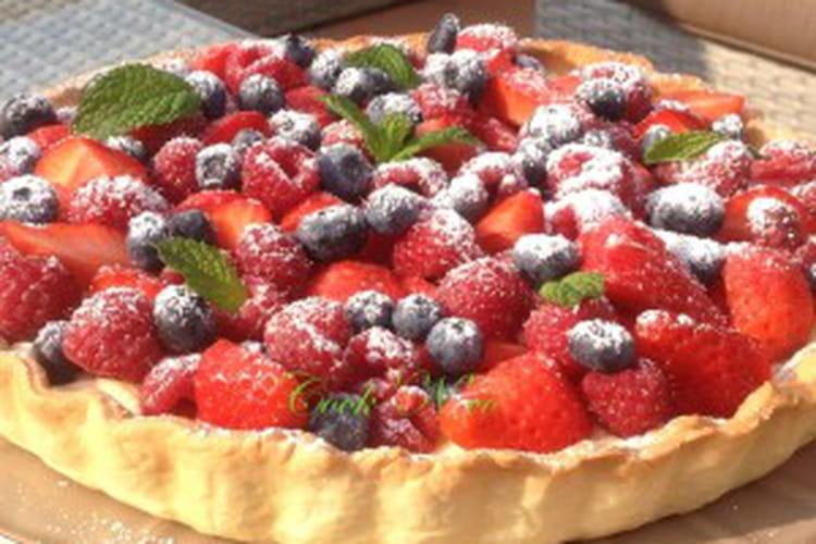 Tarte aux fruits rouges et crème pâtissière