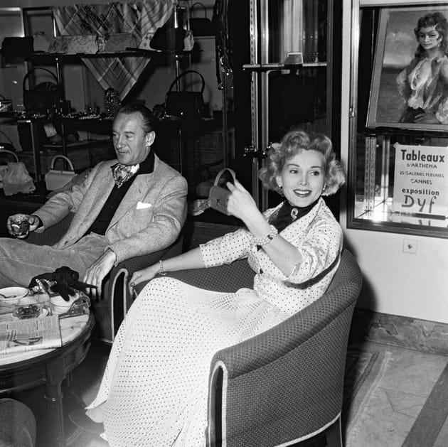 En 1953avec son 3è mari, George Sanders