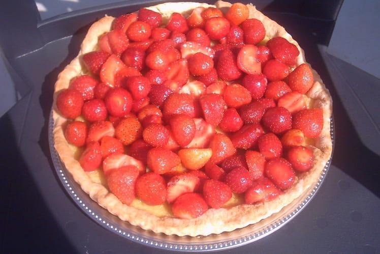 Tarte aux fraises simple et rapide