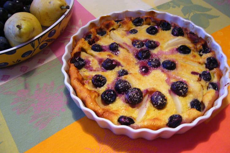 Clafoutis aux poires et raisins