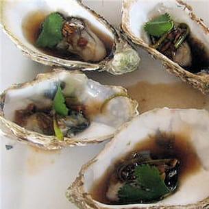huîtres vapeur à la chinoise.