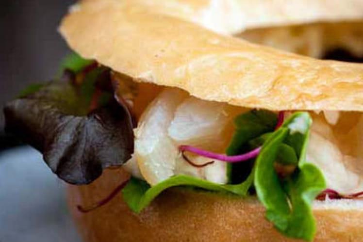 Bagels de haddock, salade et faisselle