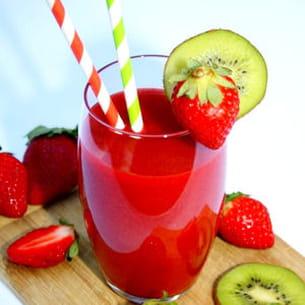 smoothie fraise / kiwi