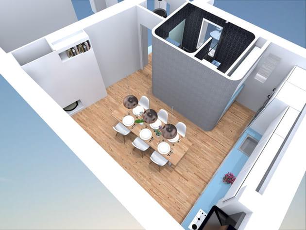 Axonométrie salle à manger