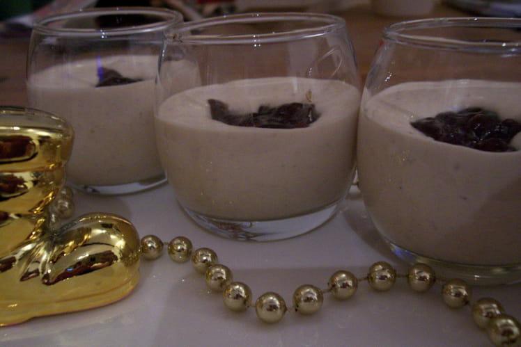 Verrines de chantilly de foie gras