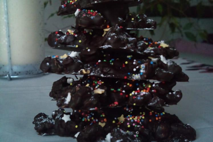 Sapin de Noël au chocolat