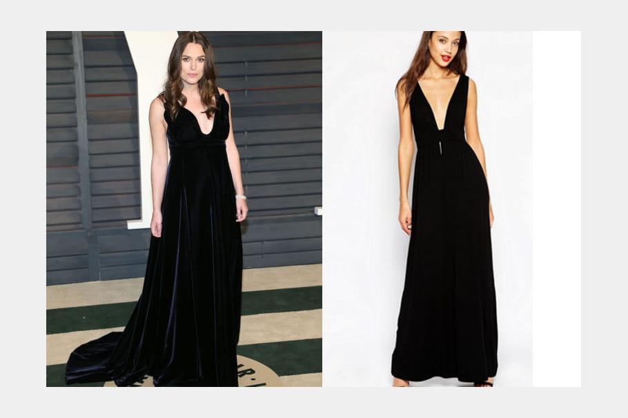 Keira Knightley : une robe noire glamour