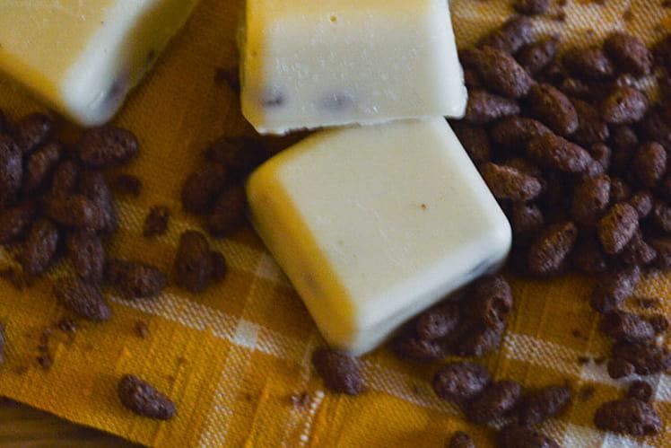 Chocolats blancs au riz soufflé