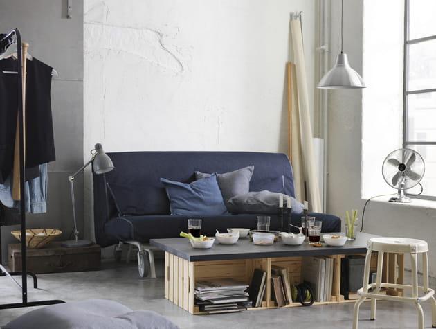 Caisse + planche = table