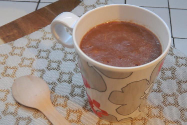 Chocolat chaud à la banane sans plv