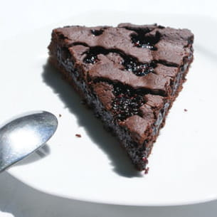 tarte de linz au chocolat et confiture de mûres