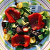 43 salade aux poivrons grilles et graines de courge batista