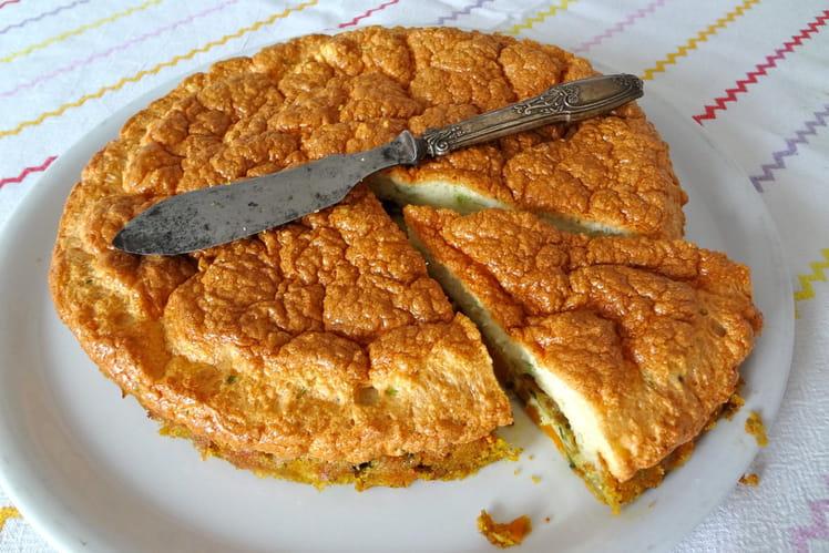 Omelette soufflée aux petits légumes exotiques