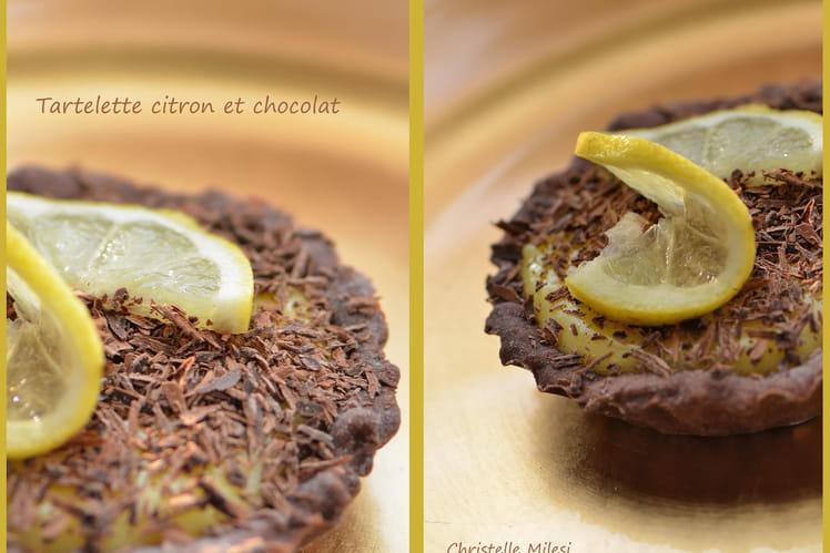 Tartelette citron et chocolat