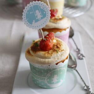 cupcakes fraises et menthe meringués citron