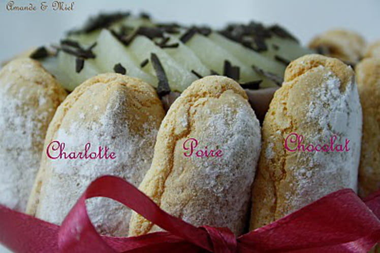 Charlotte chocolat-poire
