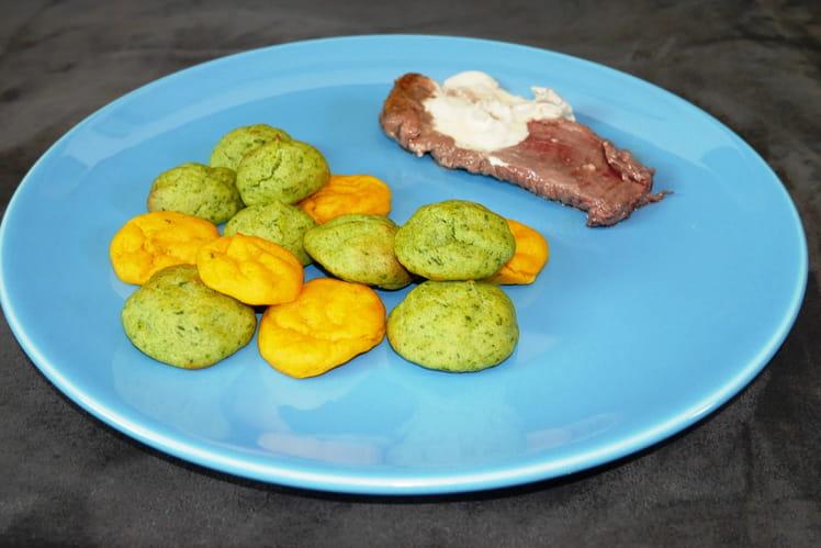 Pommes Dauphine carotte et courgette