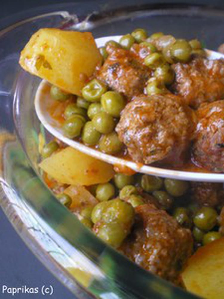 Recette de mijot de boulettes aux petits pois la recette facile - Cuisiner les petits pois ...