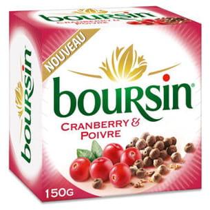 fromage boursin cranberry & poivre de boursin