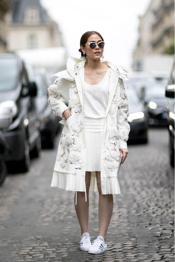 Street style à Paris : la parka couture