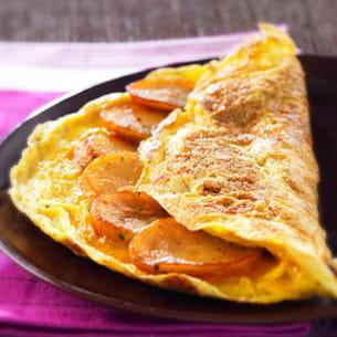 l'omelette aux pommes de terre