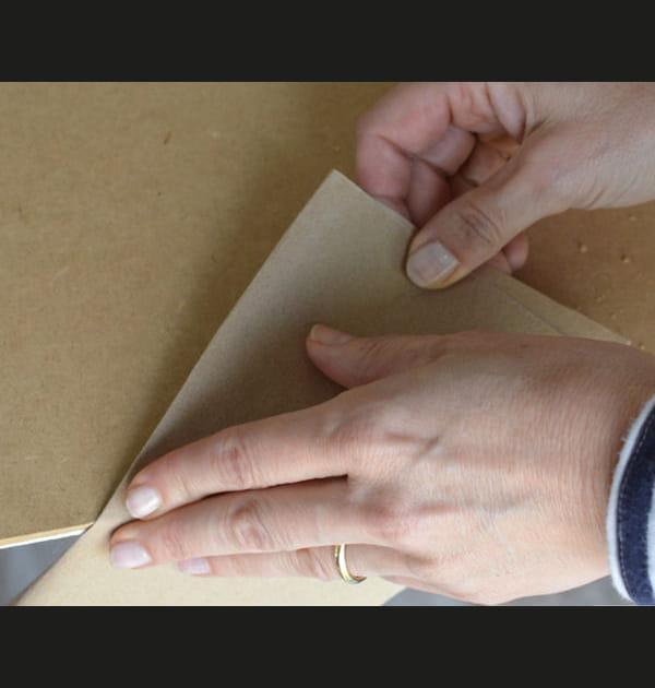 Etape 4: limer au papier de verre