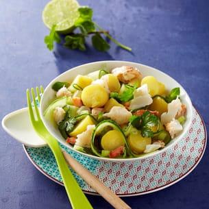 salade de ratte du touquet au concombre et au crabe